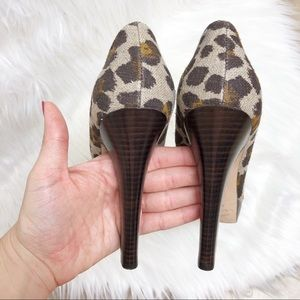 Via Spiga Shoes - Via Spiga leopard print platform peep toe pumps